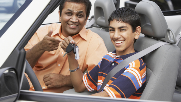 new teenage driver and his father