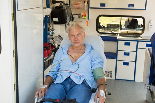 Patient in the ambulance