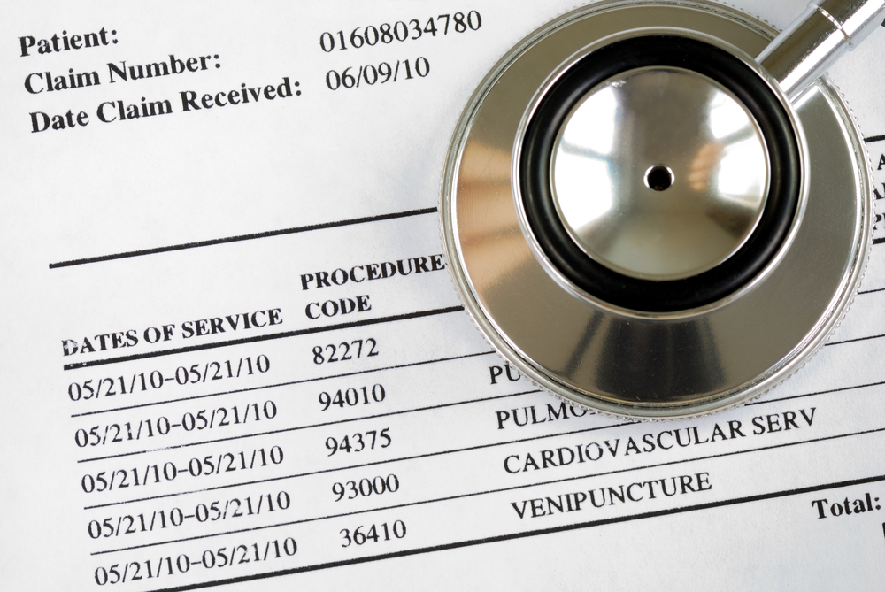 healthcare invoice for patient care
