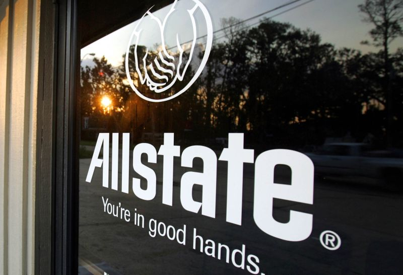 Allstate door sign