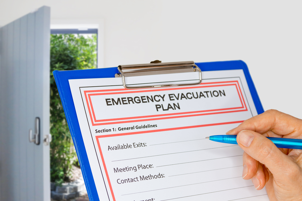 evacuation plan check list