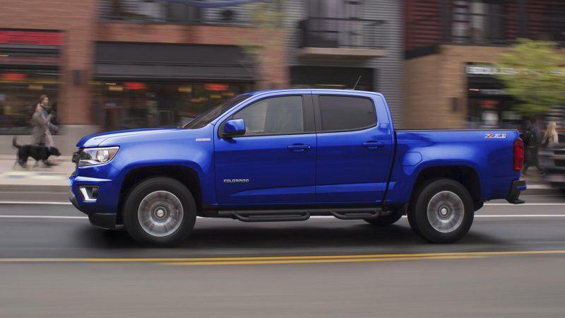 2017 Chevrolet Colorado in blue