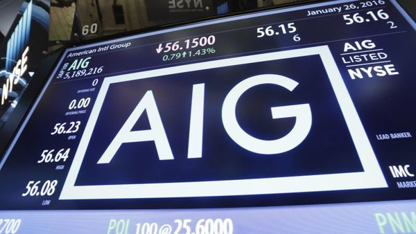 AIG posted its fourth loss in six quarters. (AP Photo/Richard Drew)