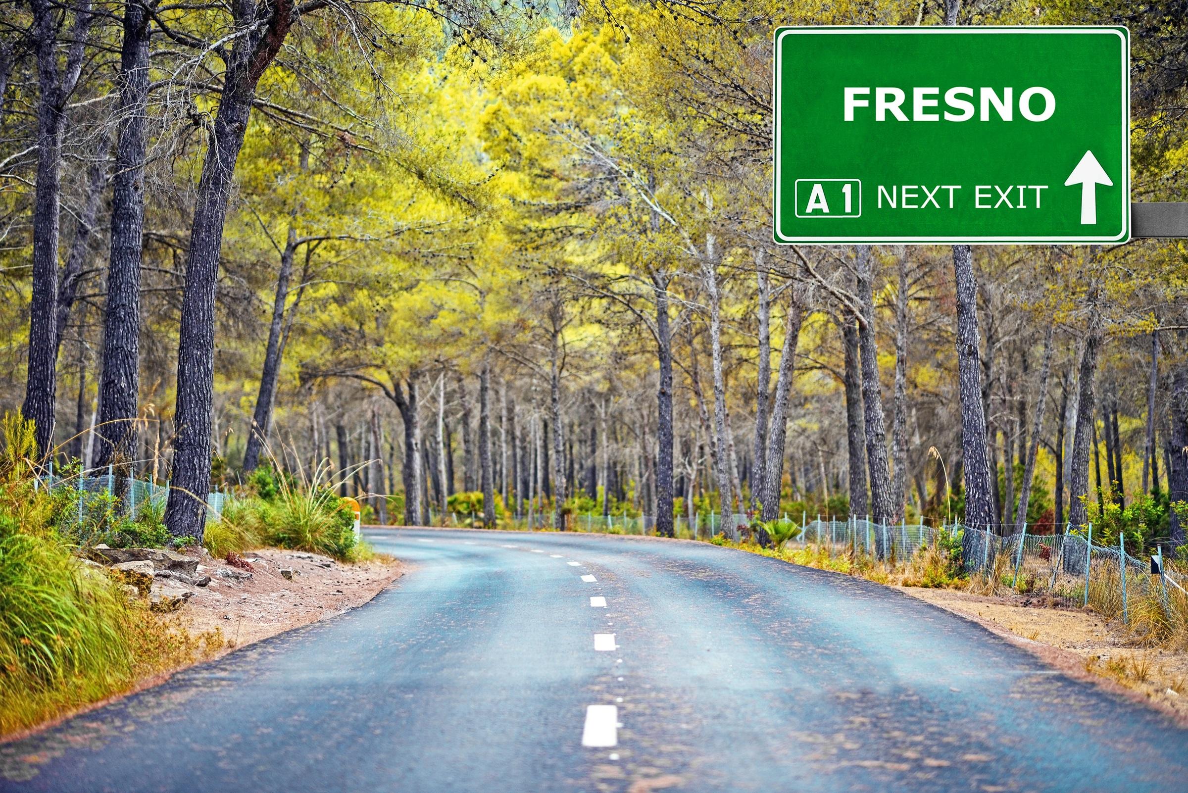 Road sign Fresno CA
