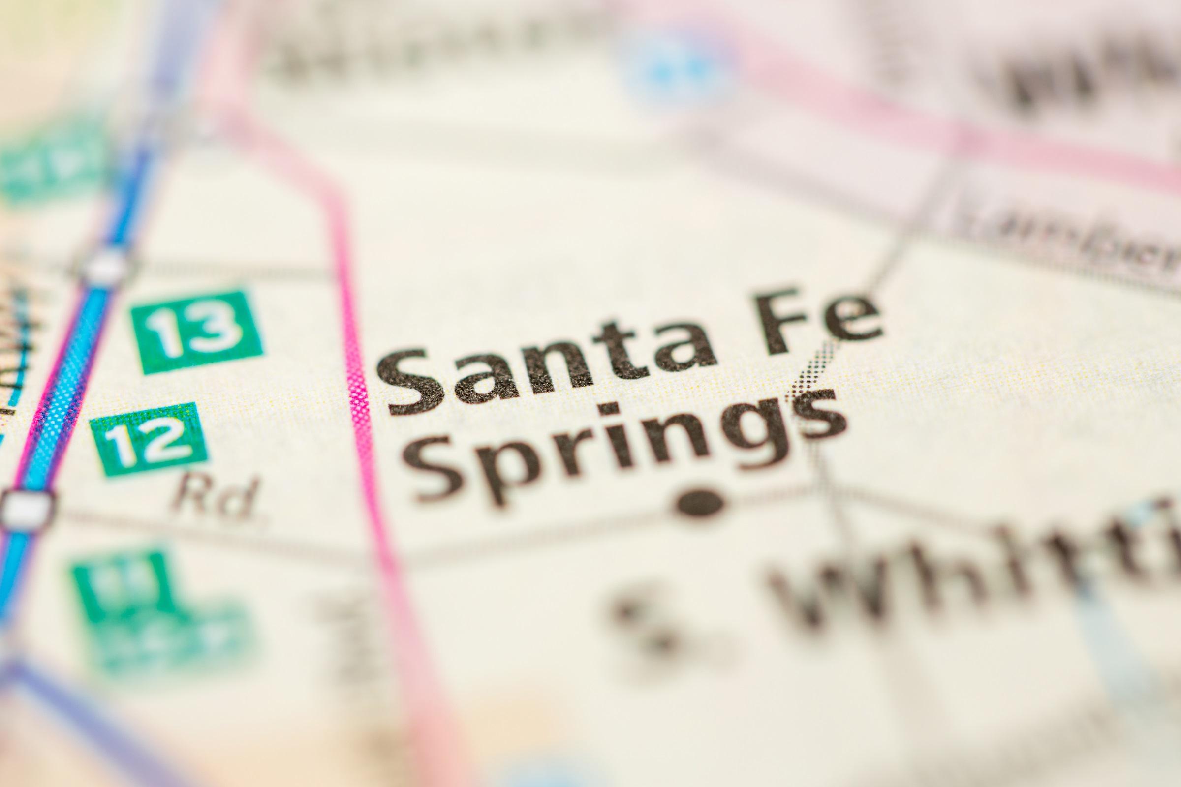Map of Santa Fe Springs CA