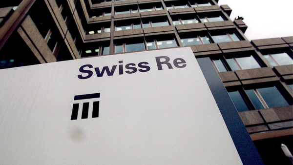 Swiss Re building sign