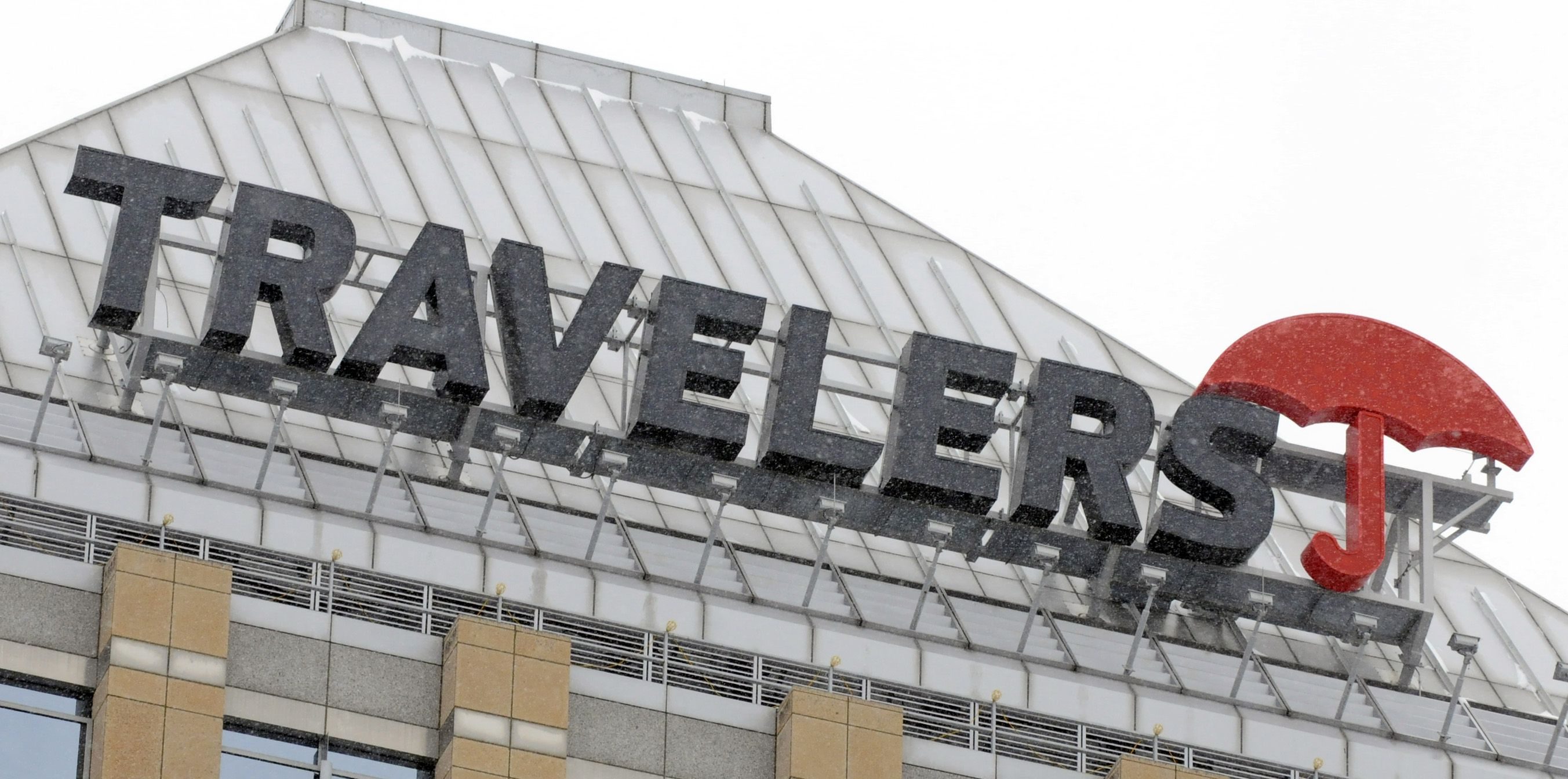 Travelers Cos. building sign
