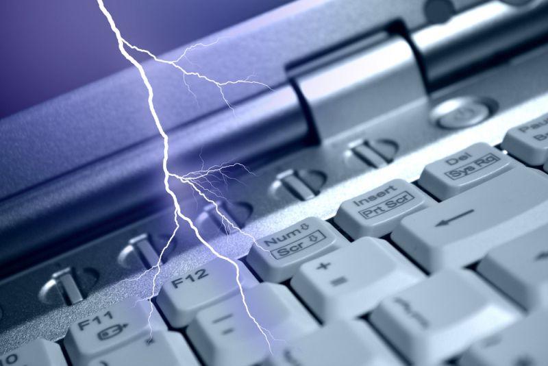 lightning damaging electronics