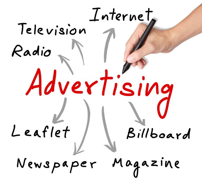 Advertising channels, including leaflets