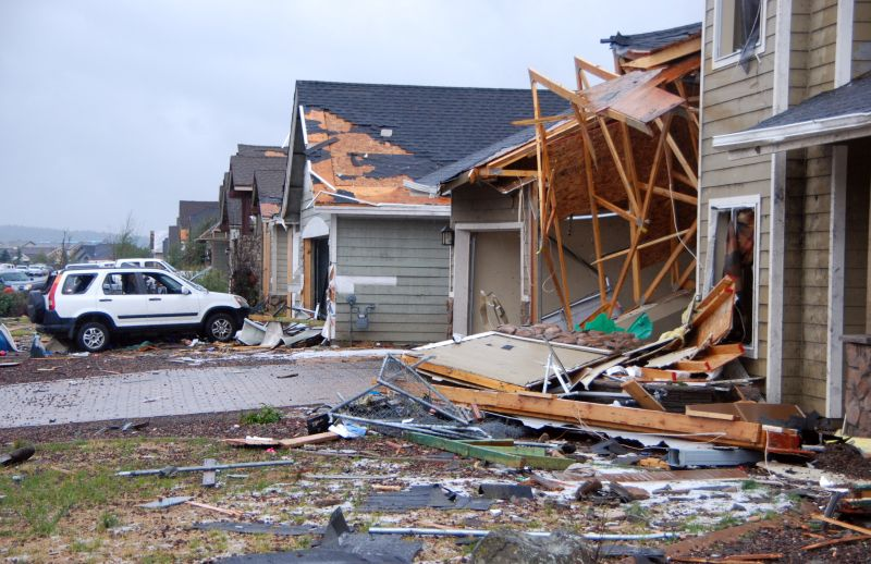 Damage to two homes after two tornadoes touched down in northern Arizona