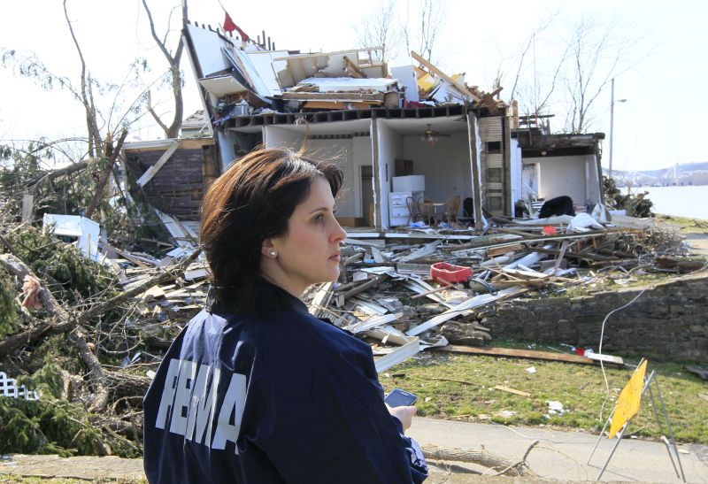 FEMA official inspects tornado damage in Mosco, Ohio
