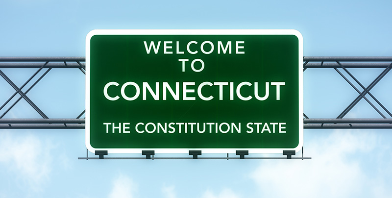 Connecticut highway sign
