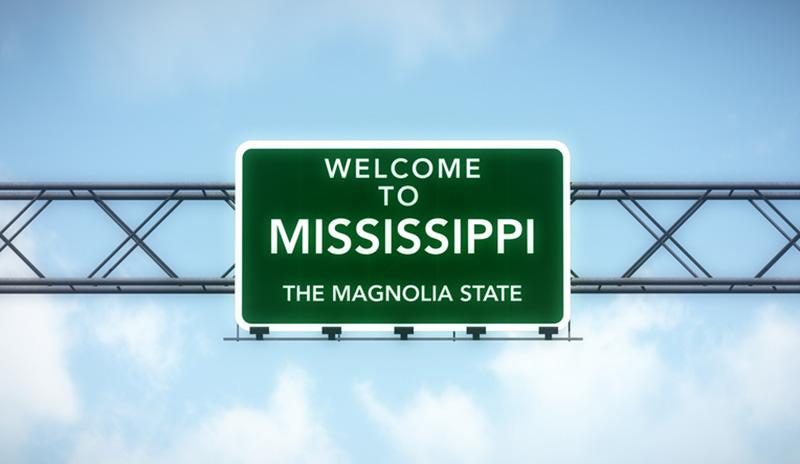 Mississippi highway sign