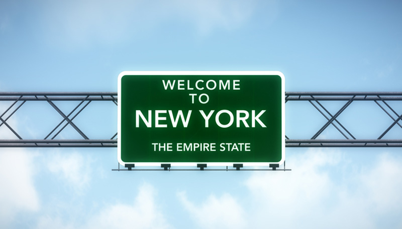 New York State highway sign