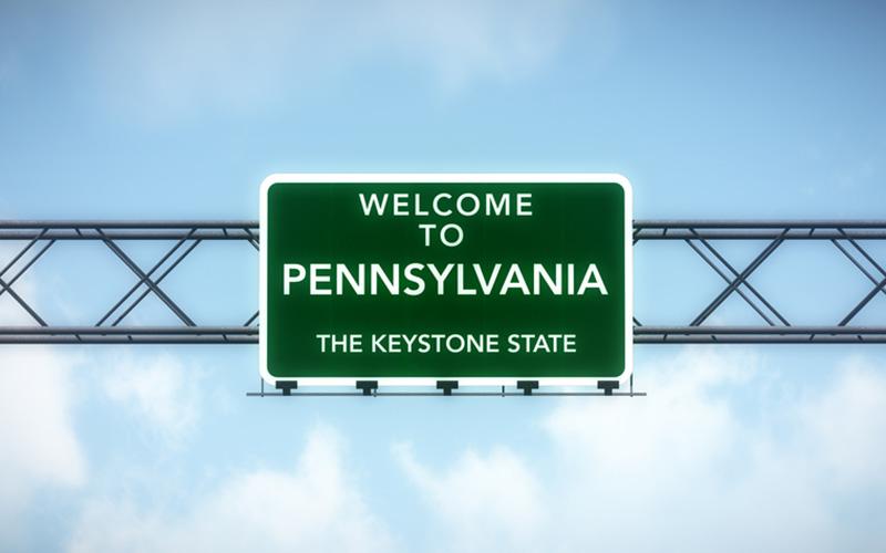 Pennsylvania highway sign