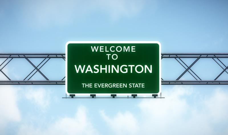 State of Washington highway sign