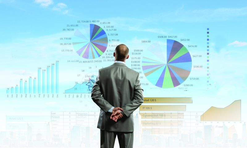 data analytics on big screen