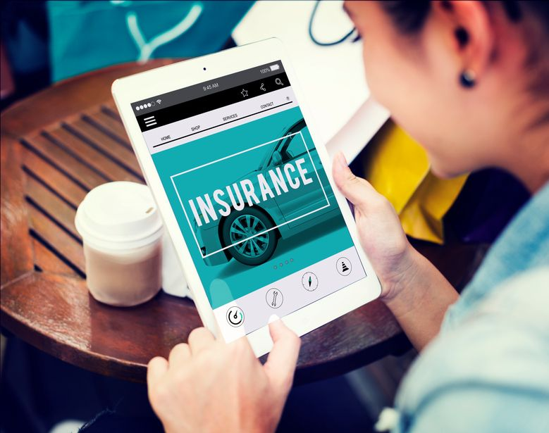 man buying auto insurance online