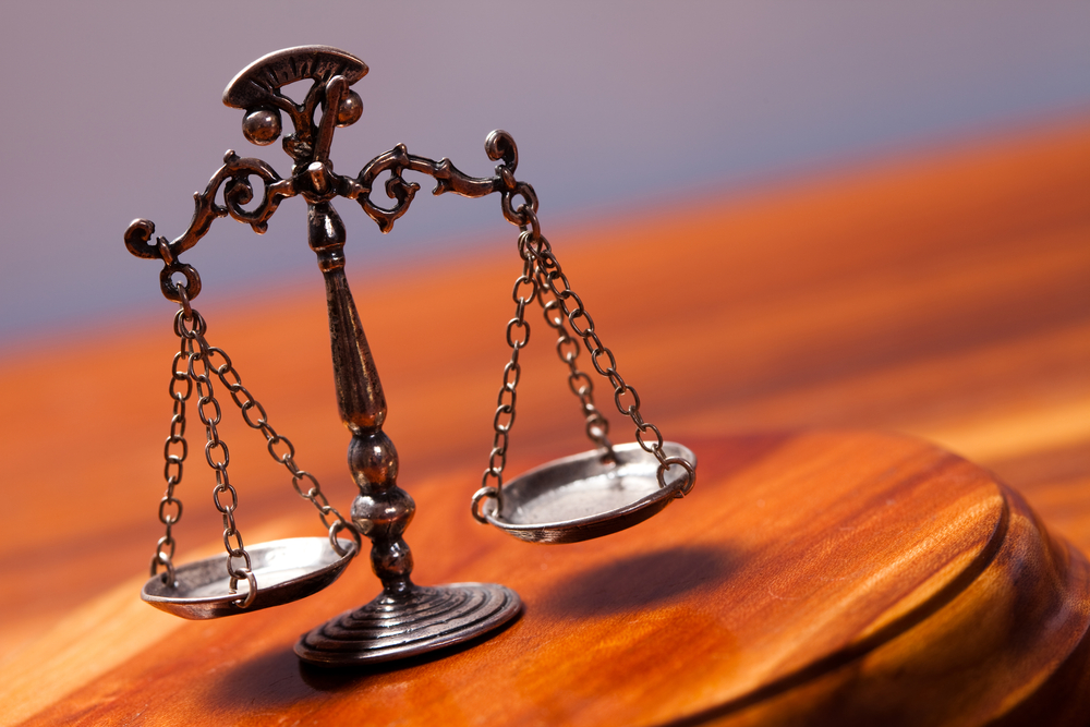 Scales of justice for a verdict