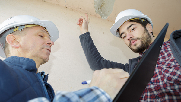It can be difficult to prove that damage to your ceilings is a result of nearby construction, not normal settling with age. (Photo: Shutterstock)