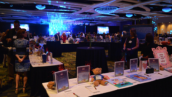 The silent auction at last year's WCI Give Kids the World Dinner at the Orlando (Fla.) World Marriott.