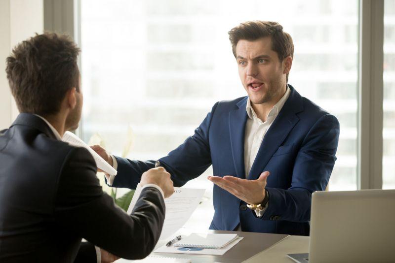 Two men having a difficult conversation