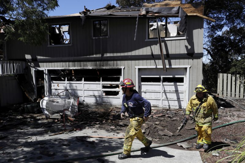 ire-ravaged home Wednesday, July 12, 2017, in San Jose, Calif.