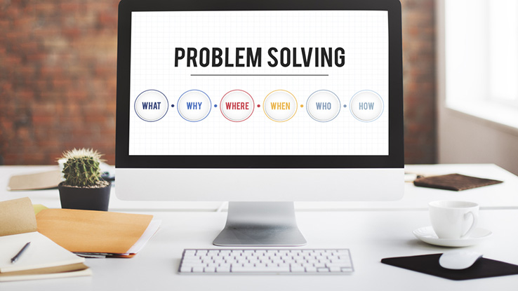 Problem solving computer screen