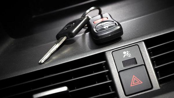 Keys in car