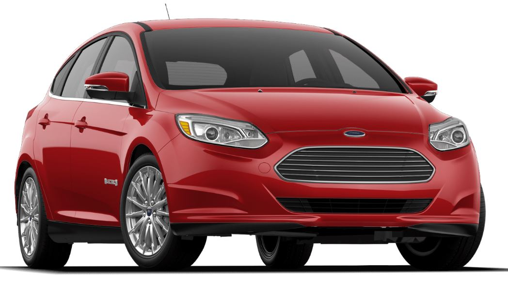 Red 2017 Ford Focus electric car