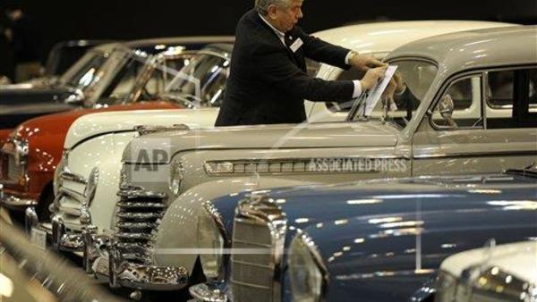 The Motor Show in Essen, Germany often showcases rare cars and trucks in their pride and glory. (Photo: AP Photo/Martin Meissner)