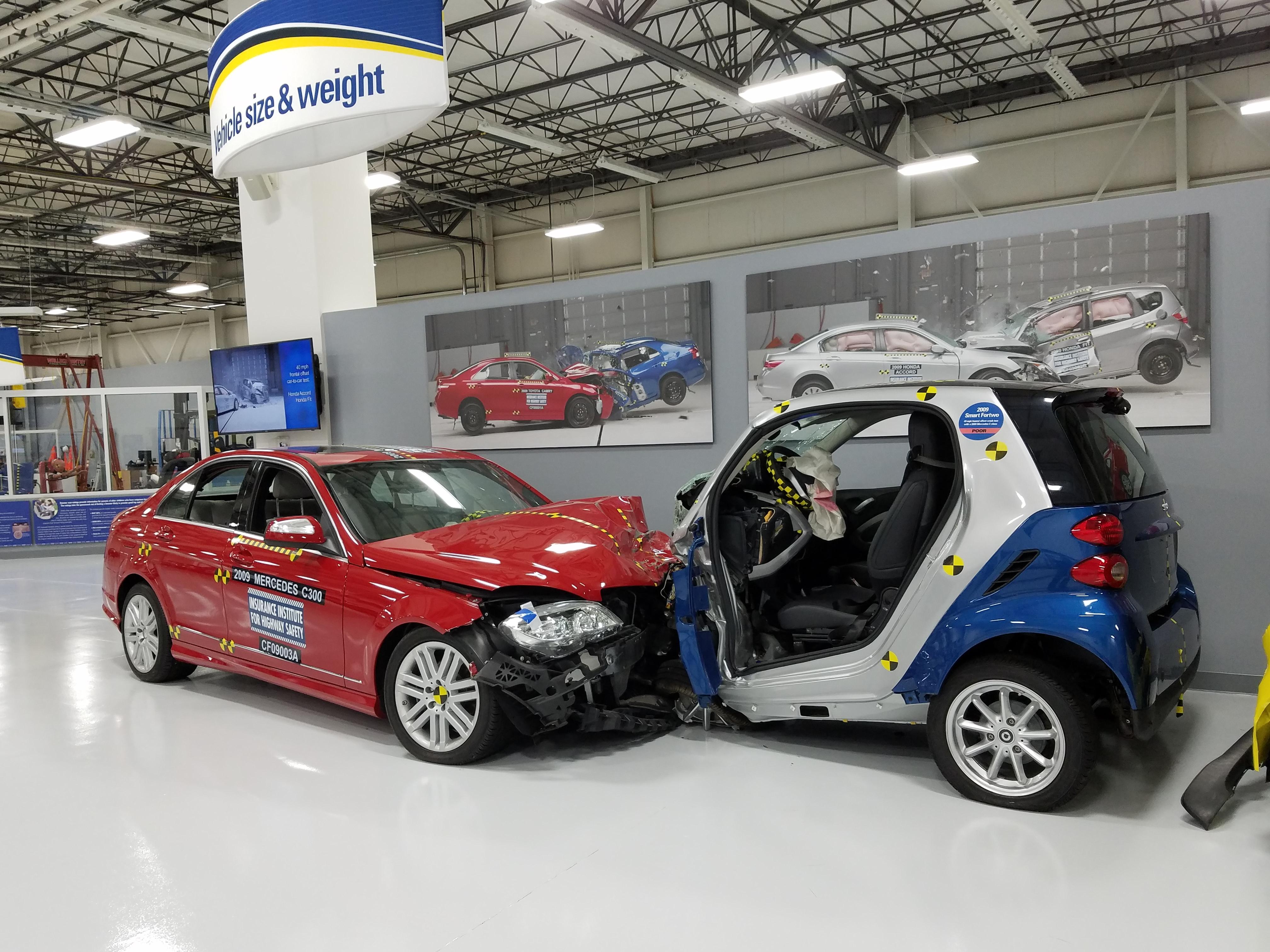 Mercedes Benz and Smart Car crash test