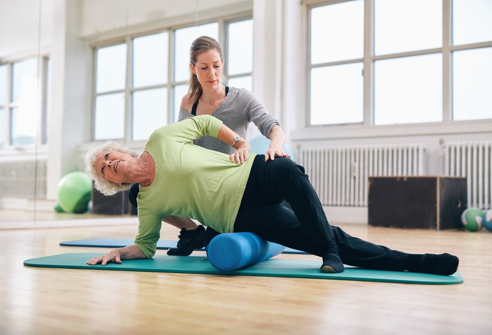 women getting physical therapy