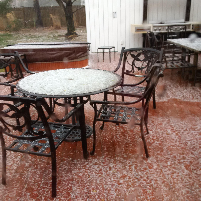 hail on a deck