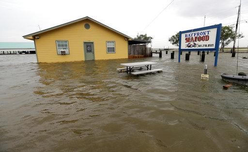 The Bayfront Restaurant damaged by Hurricane Harvey