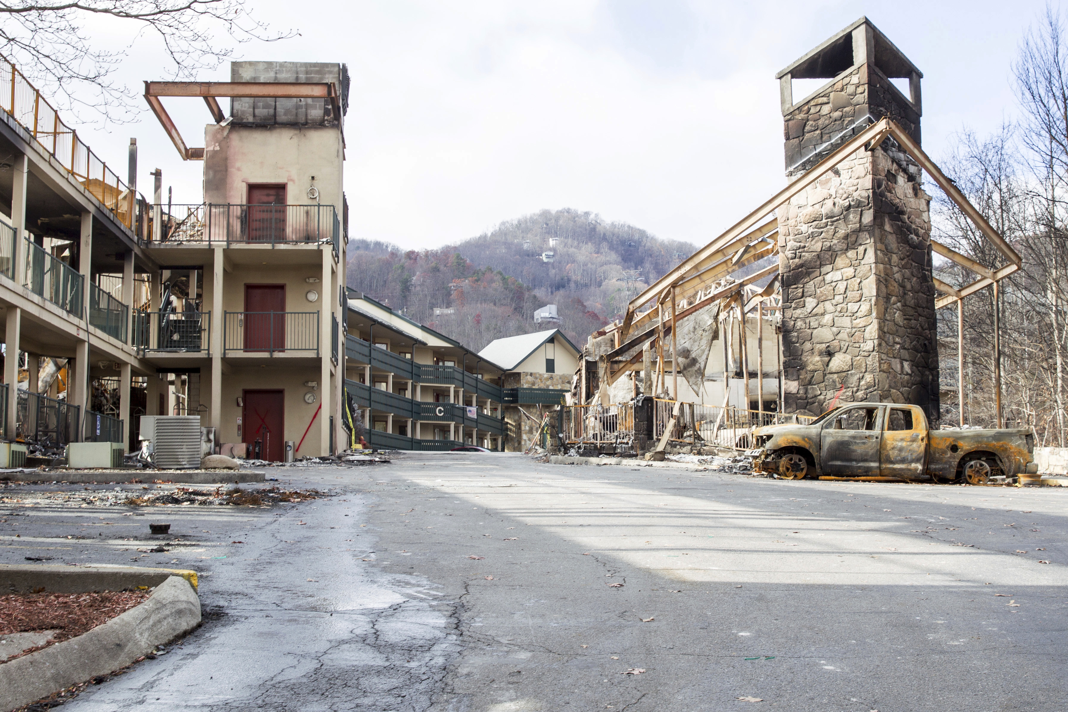 Motel  Gatlinburg Fire