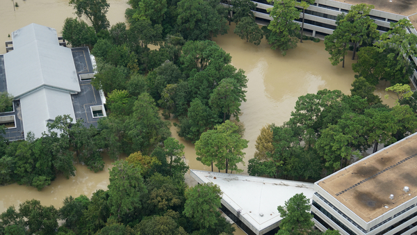 With at least 1.7 million homes damaged by Hurricane Harvey, insurance adjusters will need to determine which air conditioning and heating systems were damaged by flood waters vs. those affected by rainwater only. (Photo: Shutterstock)