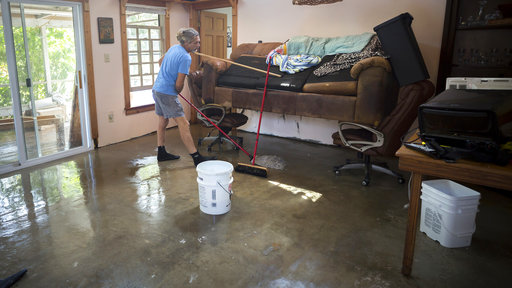 Mopping up after Hurricane Irma