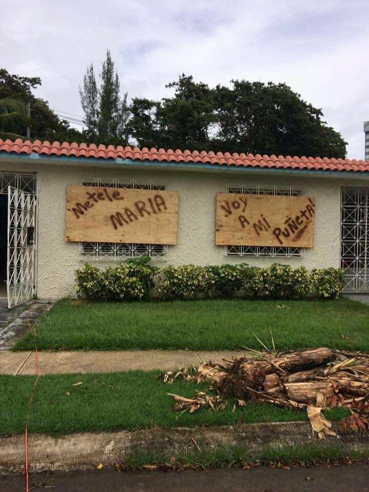 boarded up home on the island of Puerto Rico