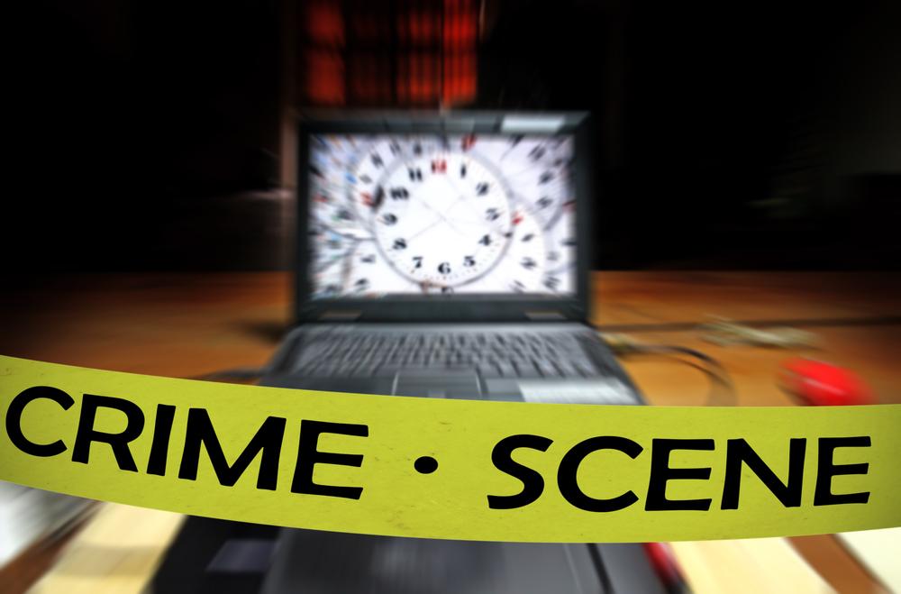 computer breach crime scene
