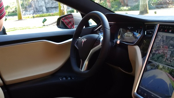 The Tesla Model S is an electric car capable of operating fully autonomously. (Photo: P. Harman/PC360)