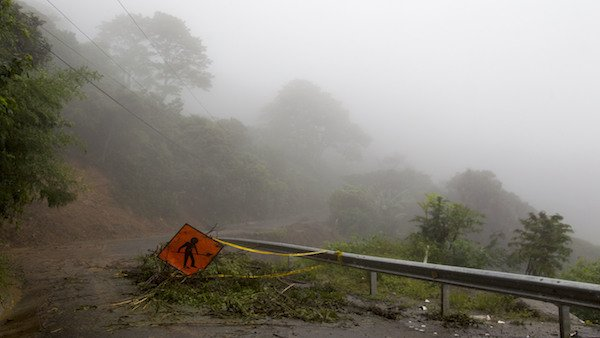 Tropical storm Nate hits Costa Rica