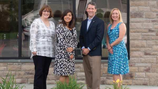 The Curabba Agency staff in front of their office in Middletown, N.Y. From left: Sheryl Abernethy, Amanda Gonzalez, Greg Hogan and Patricia Frantz.