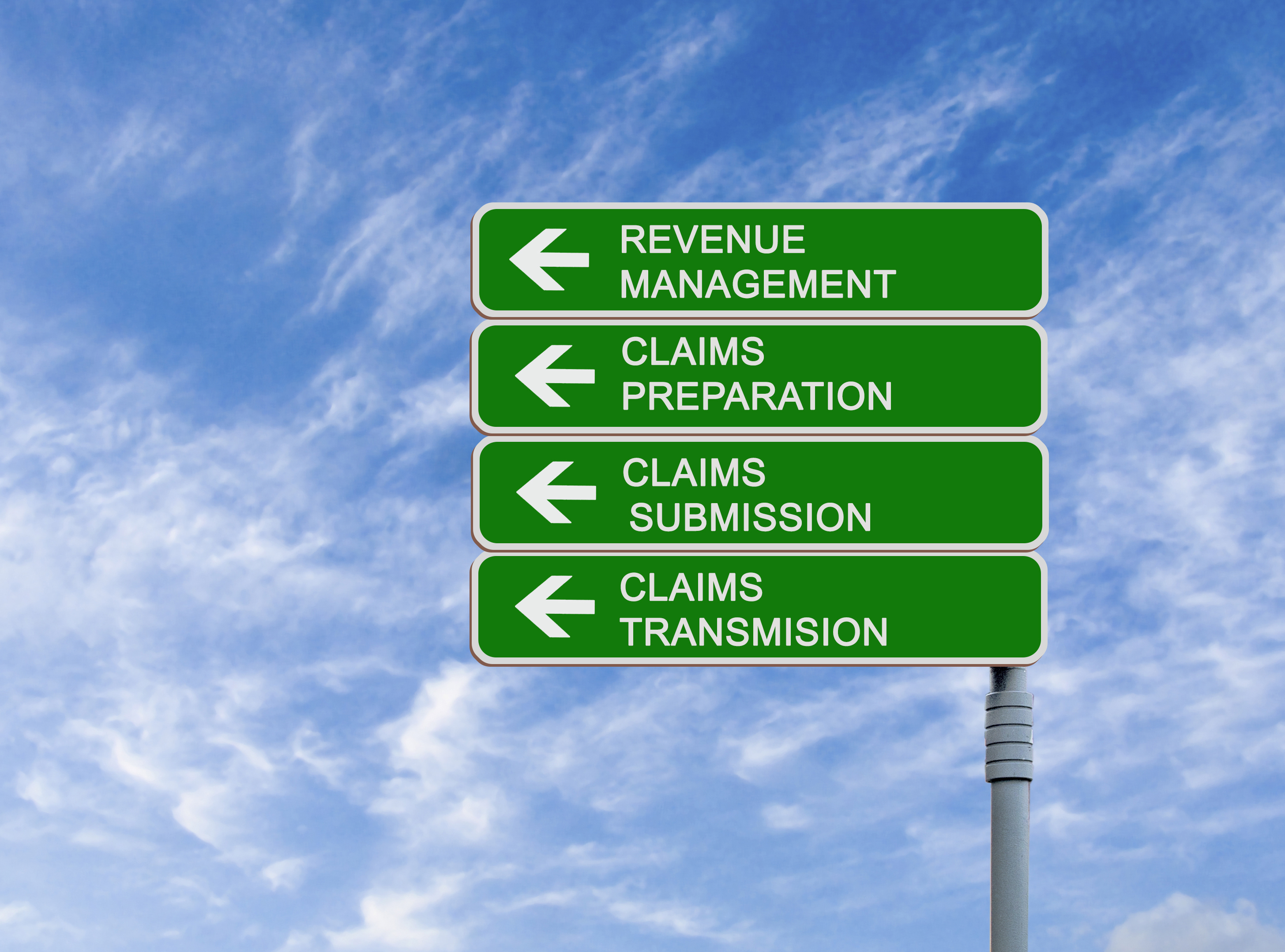 Claims management road signs