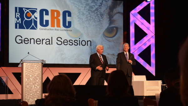 Mike McGavick and Jack Gibson open IRMI 2017 at the general session,