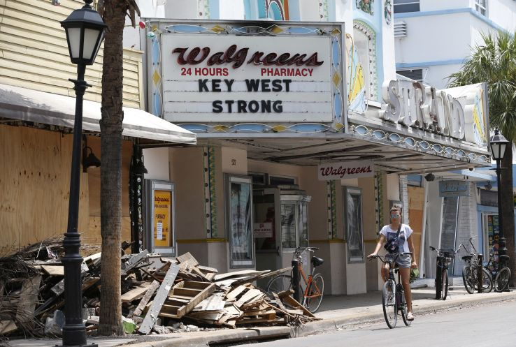 Hurricane damaged Walgreens in Key West, Fla.