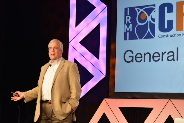 Tim East leads the closing session of IRMI 2017