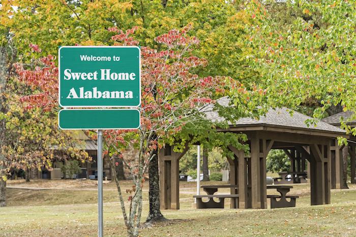 Sweet Home Alabama sign