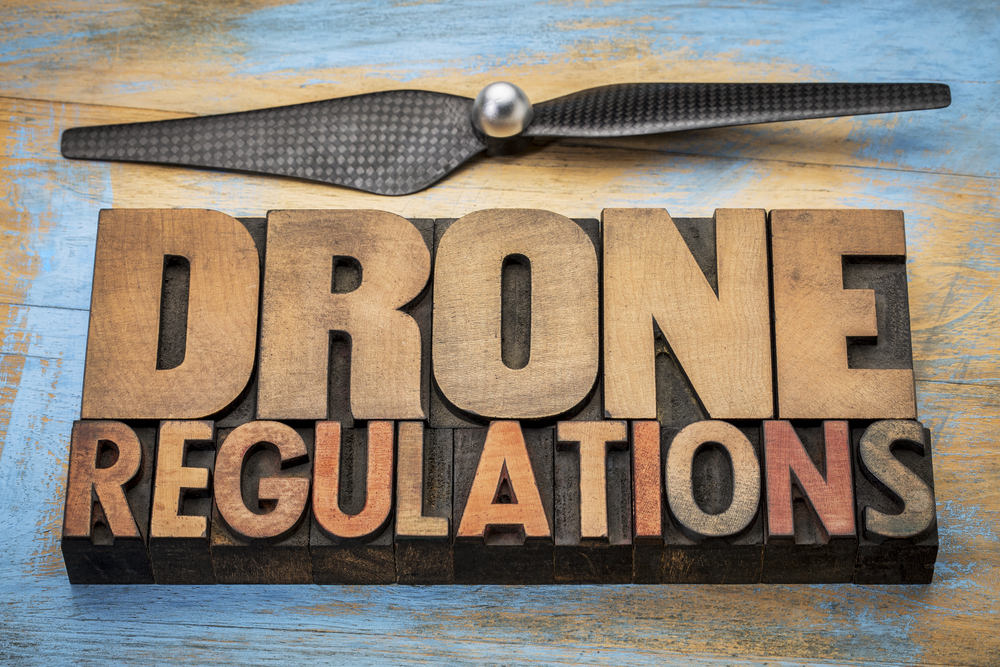 the words drone regulations