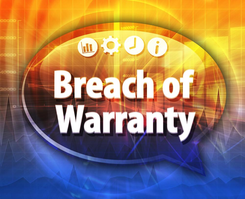 Breach of warranty sign